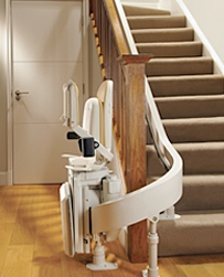 Brooks 80 Curved Stairlift Folded