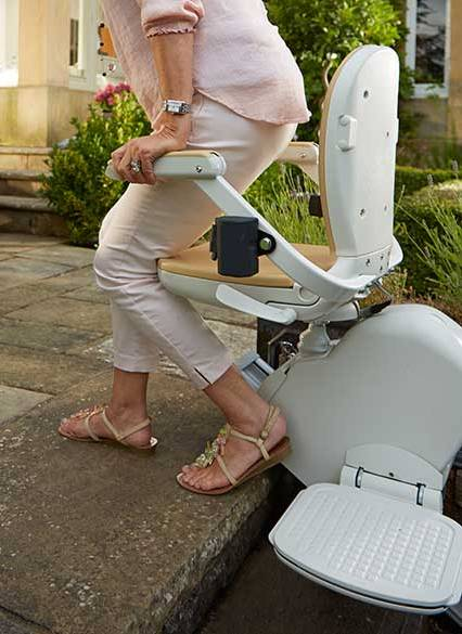 Outdoor Stairlift Swivel Seat