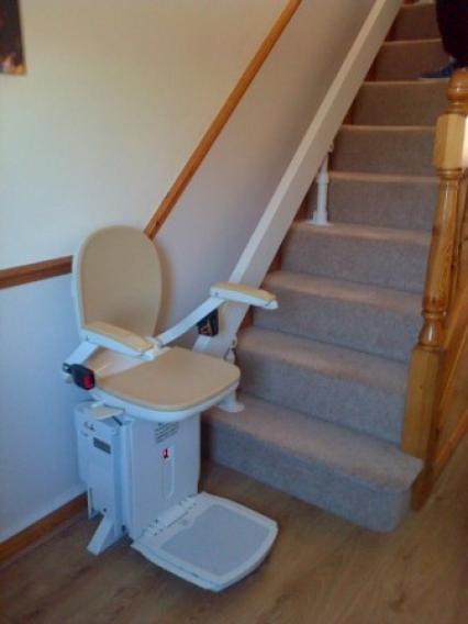 Curved Stairlift installation North Yorkshire